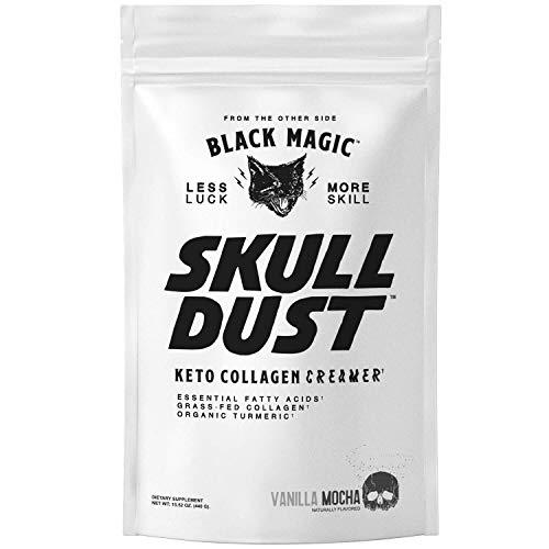 Black Magic Skull Dust Keto Coffee Creamer with Grass Fed Collag...