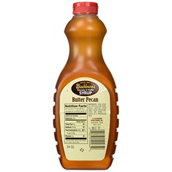 Blackburns Pancake & Waffle Syrup, Butter Pecan Flavor, 24 Oz. ...