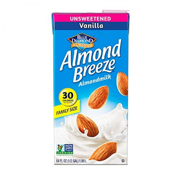 Almond Breeze Dairy Free Almondmilk, Unsweetened Vanilla Milk, 6...
