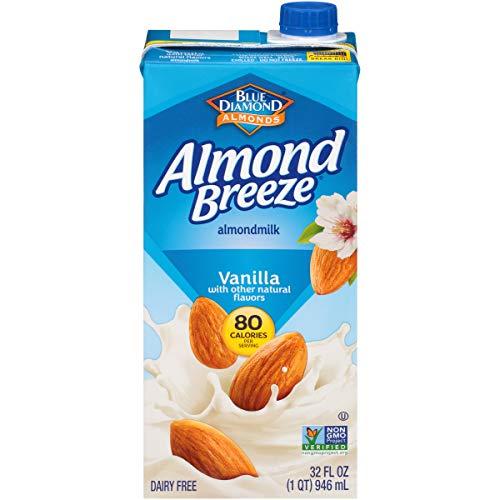 Almond Breeze Dairy Free Almondmilk, Vanilla, 32 FL OZ Pack of 12