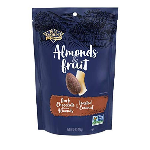 Blue Diamond Almonds & Fruit Bag, Dark Chocolate Flavored Almond...