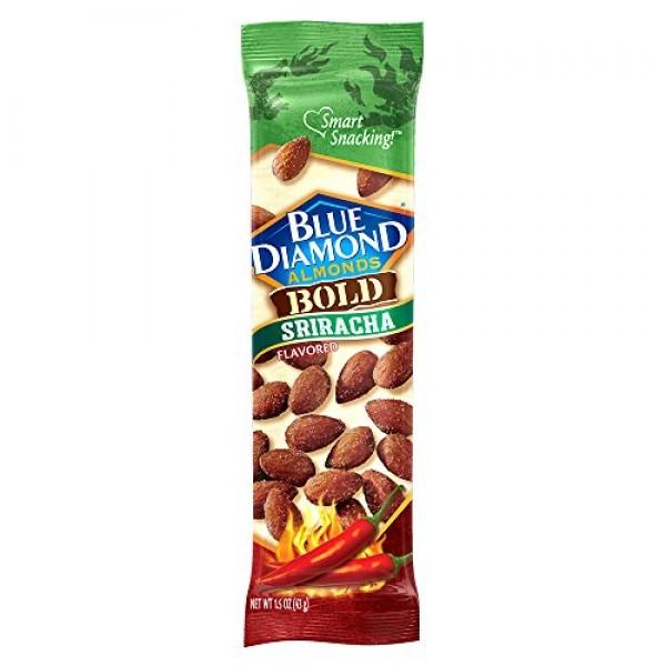 Blue Diamond Almonds, Bold Sriracha, 1.5 Ounce Pack of 12