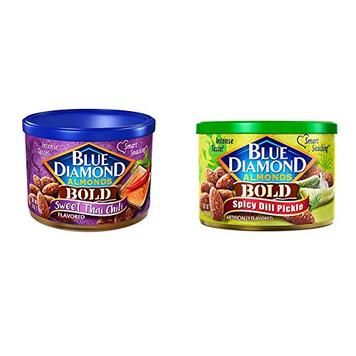 Blue Diamond Almonds, Bold Sweet Thai Chili, 6 Ounce with Blue D...