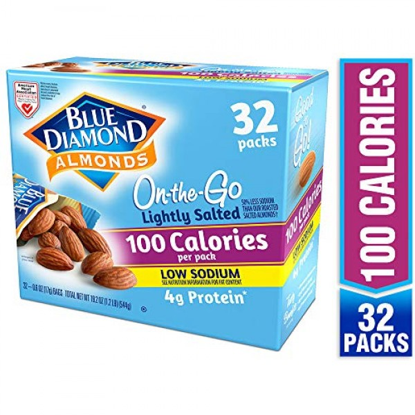 Blue Diamond Almonds Lightly Salted, Low Sodium, 100 Calorie Pac...