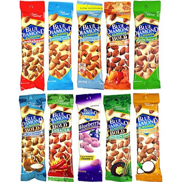 Blue Diamond Almonds Variety Pack 1.5 Ounce Bags 10 Pack