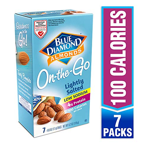 Blue Diamond Almonds, Low Sodium Lightly Salted, 100 Calorie On-...