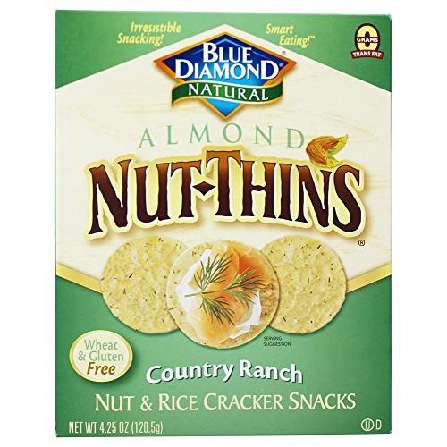 Blue Diamond Growers - Almond Nut-Thins Nut & Rice Cracker Snack...