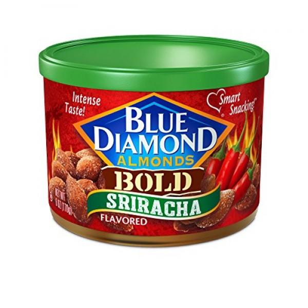 BOLD Sriracha Flavored Almonds - case of twelve 6oz cans