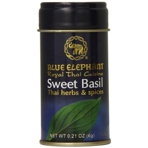 Blue Elephant Royal Thai Cuisine Dried Sweet Basil, 0.21 Ounce
