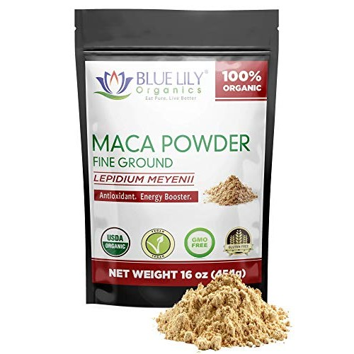 Blue Lily Organics Gelatinized Peruvian Maca Powder16 oz - Eas...