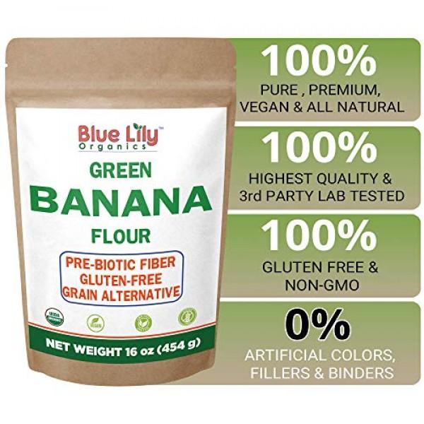 Blue Lily Organics Green Banana Flour 16 oz - 100% Organic USD...