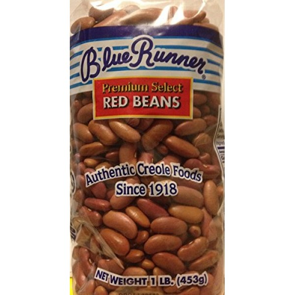 Blue Runner Premium Select Red Beans 6 Pack of 16 Ounce Bags-Dr...