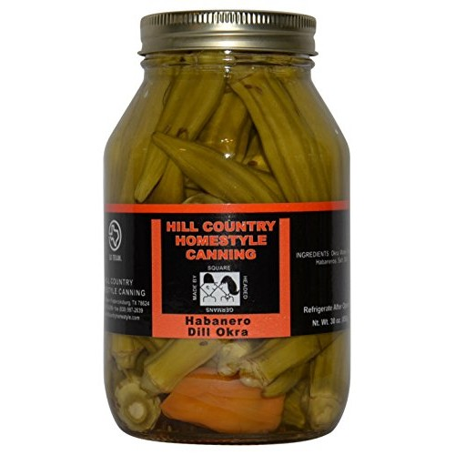 Texas Hill Country Pickled Habanero Dill Okra 30 oz