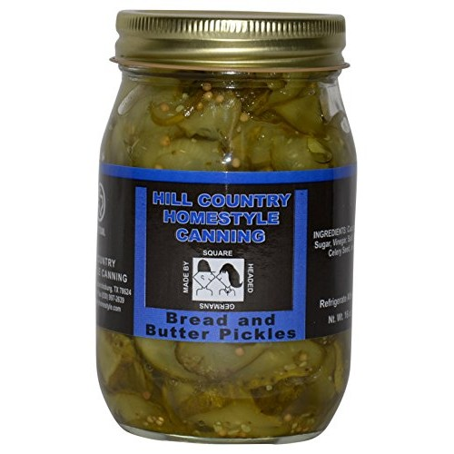 Texas Hill Country German Bread And Butter Pickles 16oz