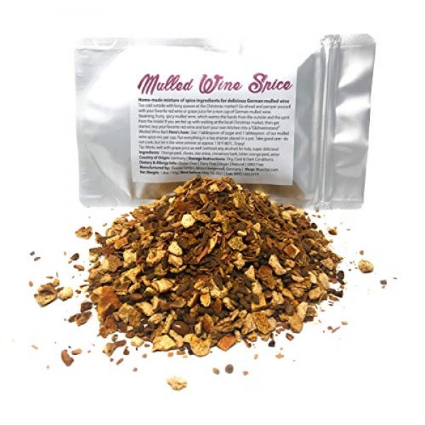 Mulled Wine Spice from Germany | Net Weight: 1.8oz / 50g | Works...