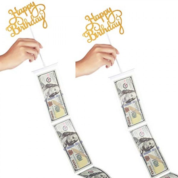 2 Sets Cake Topper Money Box Kit, include Pulling Money Box, Tra...