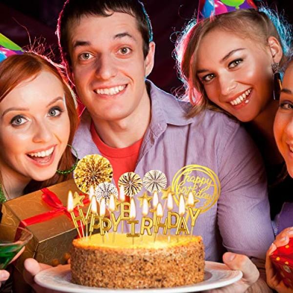 Birthday Cake Topper Set Happy Birthday Cupcake Topper Letters C...