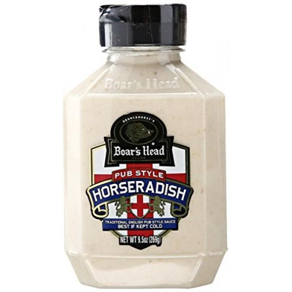 Boars Head Horseradish Sauce, 9.5 oz 3 pack