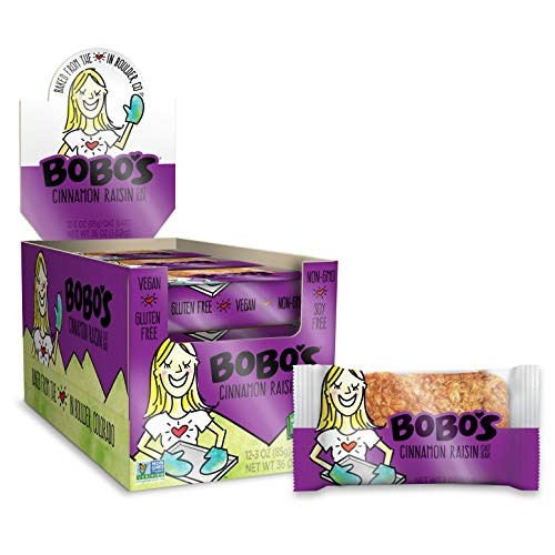 Bobos Oat Bars, Cinnamon Raisin, 3 oz Bar 12 Pack, Gluten Fre...