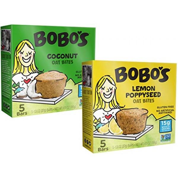 Bobos Oat Bars Gluten Free Bobos Bites 2 Flavor Variety Bundle...