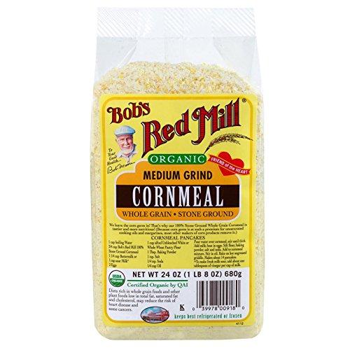 Bobs Red Mill Organic Cornmeal Medium, 24 oz, 2 pk