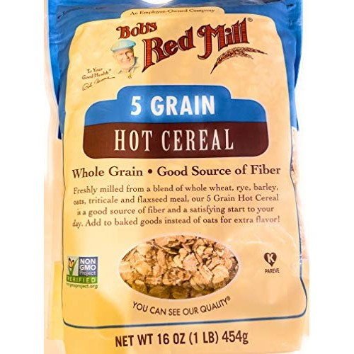 Bobs Red Mill 5 Grain Rolled Hot Cereal, 16 Oz