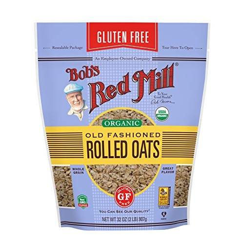 Bobs Red Mill Gluten Free Organic Old Fashioned Rolled Oats, 32...