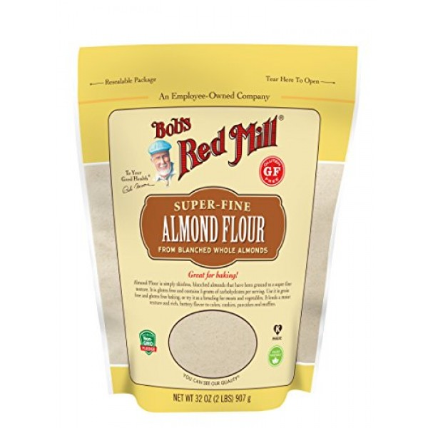 Bobs Red Mill Almond Flour, Resealable Stand up Bag, 32 OZ