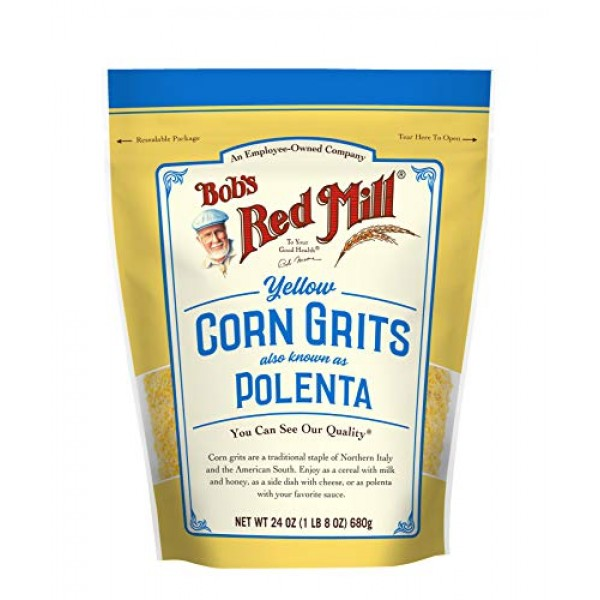Bobs Red Mill Corn Grits / Polenta, 24-ounce Pack of 4