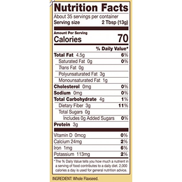 Bobs Red Mill Flaxseed Meal, Resealable 16 oz