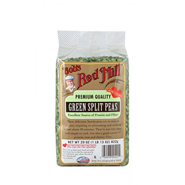 Bobs Red Mill Green Split Peas, 29-ounce Pack of 4