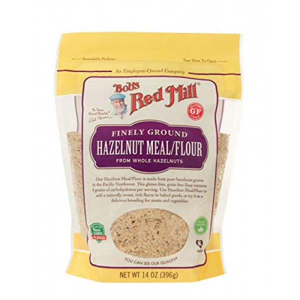 Bobs Red Mill Hazelnut Meal / Flour, 14-ounce Pack of 4