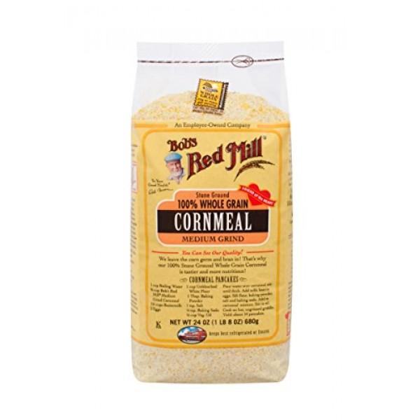 Bobs Red Mill Medium Grind Cornmeal, 24-ounce