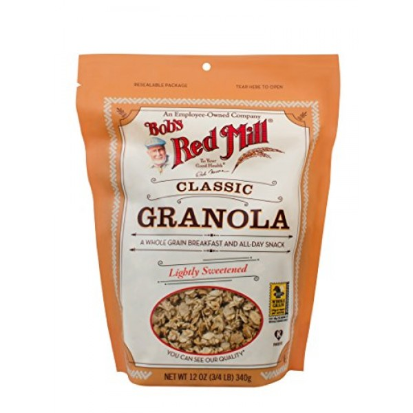 Bobs Red Mill Natural Whole Grain Granola, 12-ounce Pack of 4...