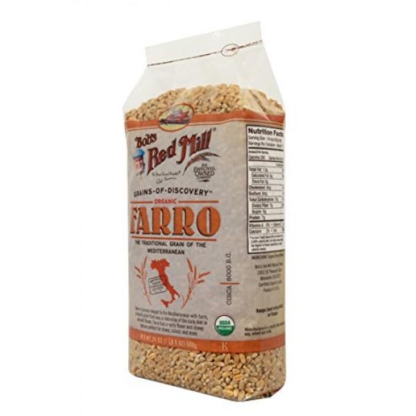 Bobs Red Mill Organic Farro Grain, 24-ounce
