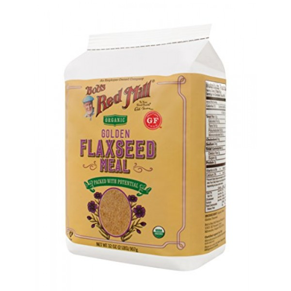Bobs Red Mill Organic Golden Flaxseed Meal, 32-ounce