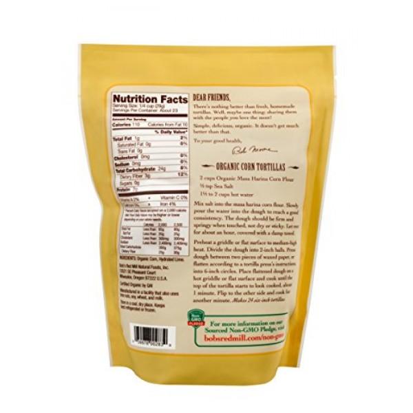 Bobs Red Mill Organic Masa Harina Corn Flour, 24-ounce