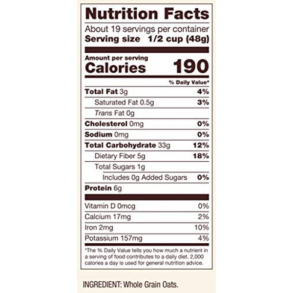Bobs Red Mill Whole Grain Old Fashioned Regular Rolled Oats, 32...