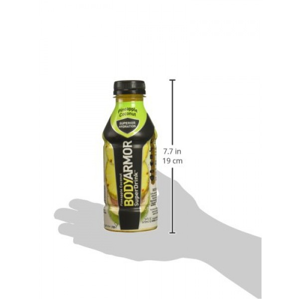 BodyArmor SuperDrink, Pineapple Coconut, 16 Ounce Bottles Pack ...