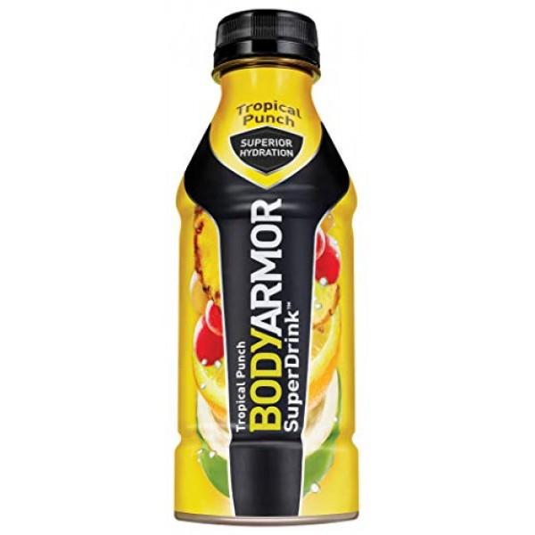 BODYARMOR Sports Drink Sports Beverage, Tropical Punch, 16 Fl Oz...