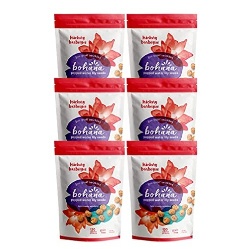 Bohana Gluten Free Popped Water Lily Seed Snack, Soulful Spice, ...