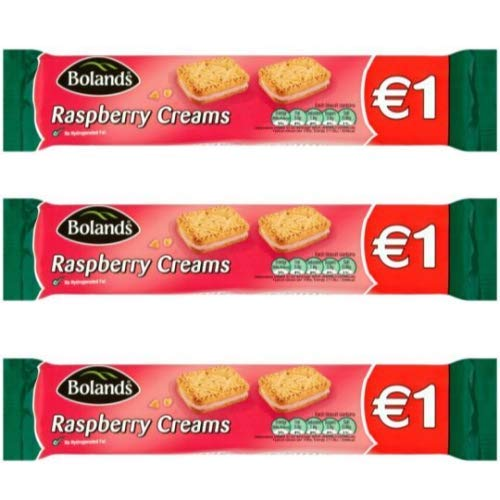 Bolands Raspberry Creams, Irish Cookies Biscuits, 3 pack, 150g ...