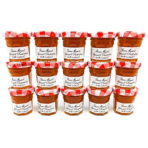 Bonne Maman Apricot Preserve Mini Jars - 1 oz x 60 pcs - Kosher