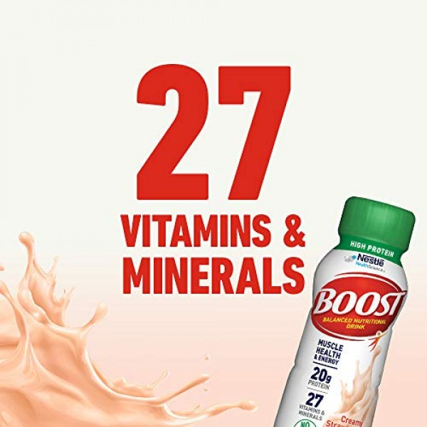 BOOST High Protein Complete Nutritional Drink, Creamy Strawberry...