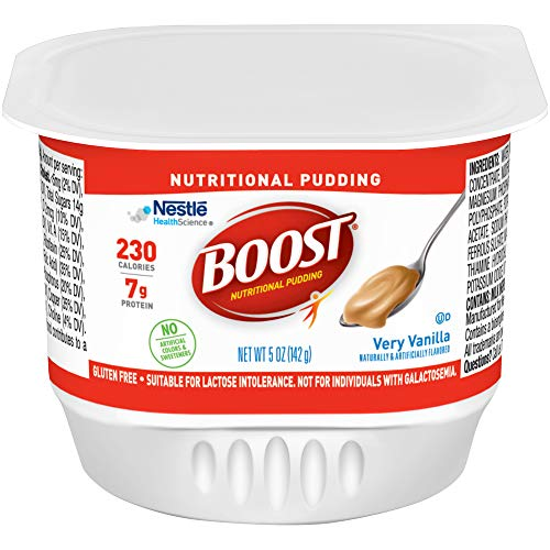 Boost Nutritional Pudding, Vanilla, 5 Ounce Cups Pack of 48