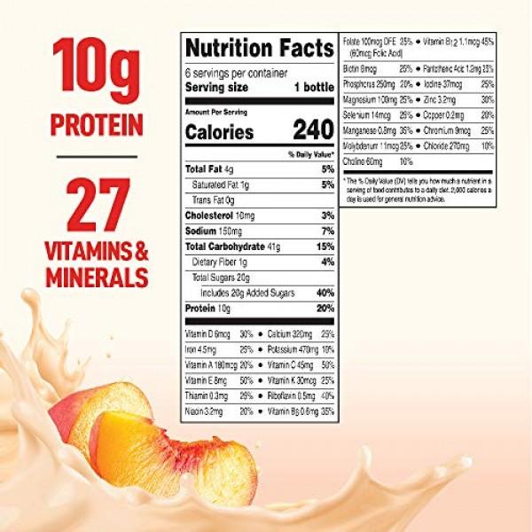 BOOST Original Complete Nutritional Drink, Peaches & Creme, 8 Ou...