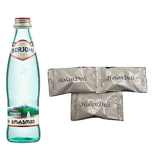 Pack of 12 Borjomi Mineral Water 0.5L GLASS BOTTLE. Includes O...