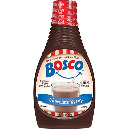 Bosco Syrup, Chocolate, 15 Ounce Pack of 6