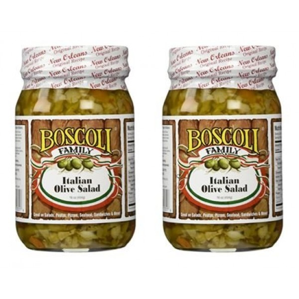 Boscoli Italian Olive Salad - Small, 15.5 ounce Pack of 2