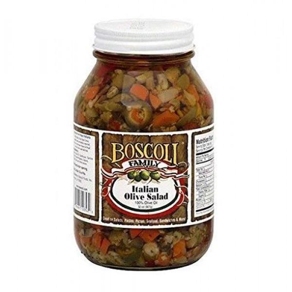 Boscoli Italian Olive Salad Giardiniera - 32 oz / 907g Jar - New !